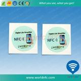 Programmabel NTAG 213 25mm NFC etiqueta con adhesivo 3M