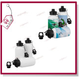 Two Lids를 가진 400ml Sliver와 White Sublimation Sports Water Bottle