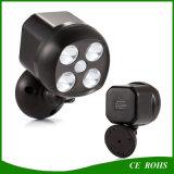 屋外調節可能な角度センサー太陽LEDのスポットライトの電球