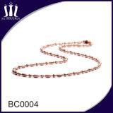 Manier 2.0mm de Gekleurde Halsband van de Ketting van de Parel van het Metaal voor DwarsTegenhanger