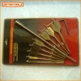 Установленные буровые наконечники Titanium покрытия деревянные плоские