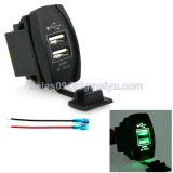 Auto Modification Waterproof Car Cigarette Powered Dual USB Charger voor iPad/iPhone 3.1A 12-24V