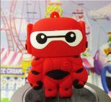 Nueva memoria Flash linda del USB del personaje de dibujos animados de Baymax para el ordenador 1-128g