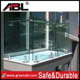 Corrimão de vidro 8 do balcão do aço inoxidável