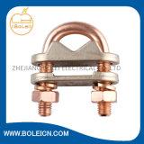 Abrazadera de cobre/de aluminio de la montura del cable del sistema del conexión a tierra y contra la luz de la protección