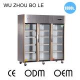 охладитель индикации холодильника кухни дверей качания 1390L 3 стеклянный