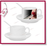 4oz Blank Sublimation Coffee Mug met Schotel en Spoon