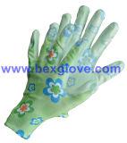 Перчатка напечатанная цветом, перчатка сада