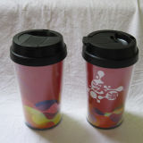 Einzelnes Wall Plastic Mug mit Lid (CL1C-E191)