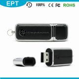 Роскошный привод пер USB кожи с логосом Debossed для подарка дела