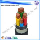 Cable resistente al fuego incombustible de la energía eléctrica de la envoltura del PVC del aislamiento de XLPE