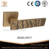 Het Handvat van de Hefboom van de Deur van de Textuur van de Koffieboon van de mat op Rozetten (Z6303-ZR09)