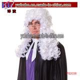 Поставка партии парика Afro парика причудливый платья законоведа адвоката парика суда (PS2038)