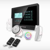 Sistema de alarme Home esperto da segurança Home do assaltante da tela de toque dos dispositivos com alarme da calcadeira