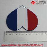Caboteur anti-calorique antidérapage flexible de cuvette de PVC de forme de coeur