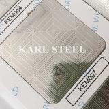 430 feuille gravée en relief par couleur d'argent d'acier inoxydable Kem007