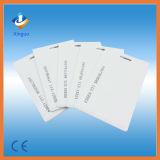 Carte de contrôle d'accès de porte blanc de PVC d'IDENTIFICATION RF du coût bas 125kHz