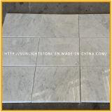Mattonelle di marmo di pietra bianche italiane Polished della parete e di pavimento di Carrara