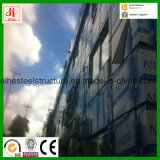 Bâtiment moderne en acier préfabriqué avec revêtement mural en verre