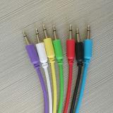 """Заплата цвета привязывает кабелей соединения 3.5mm Mono 1/8 """" тональнозвуковых"""