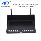 "RC708 40CH 7 "" Integarted 7.4V 2800MW李Po Battery Outdoor DisplayのHDMI Fpv Monitor"