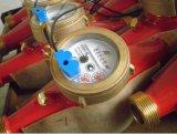 Latón Material Magnetic Drive Dry Dial Medidor de agua fría / caliente con salida de pulso