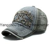 Descolorida gorra de béisbol de encargo Ocio Campo de algodón