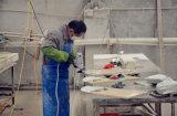 Encimera china amarilla oxidada decorativa del granito de los azulejos G682 de la cocina