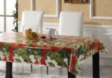 Decoratived PVC Impreso Transparente Table Cloth