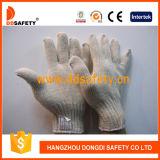 自然な綿ポリエステルストリングニット手袋Dck704を働かせる7本のゲージ4の糸