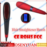 Spazzola elettrica della migliore di vendita più nuova di modo dei capelli del raddrizzatore visualizzazione dell'affissione a cristalli liquidi