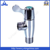 Polished латунный угловой вентиль с пластичной ручкой (YD-5025)