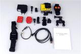 Câmera subaquática At300 do esporte de 30m 2k WiFi com o controlador sem fio do telecontrole do pulso do RF