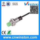 Pr12 tipo cilíndrico interruptor do sensor de proximidade da indutância do metal com CE
