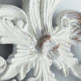 Het verontruste Witte Frame van de Spiegel van de Muur van het Ivoor Barokke voor de Decoratie van het Huis