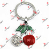 Cosmetic Jewelry (MKR192)를 위한 사기질 Open Mirror Key Chain
