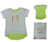 Fiore Cap Girl T-Shirt in Children Clothes Apparel con Print Sgt-075