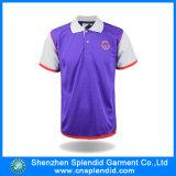 Chemise de polo promotionnelle des hommes deux de tonalité d'impression en gros de polyester