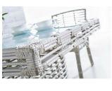 2016 تصميم جديدة بيضاء [رتّن] ثبت طاولة مع 4 كرسي تثبيت 4 الناس