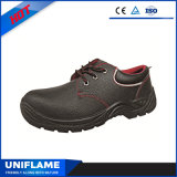 Lederne Sicherheits-Schuhe mit reflektierendem Streifen