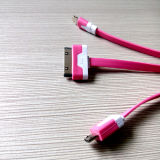 3 в 1 USB Cable Phone Accessories Data для PC Samsung HTC Hua Wei Tablet iPhone