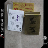 Cartões de jogo populares da folha de ouro