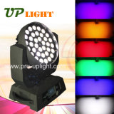 lavata dello zoom RGBWA+UV LED Movinghead di 36*18W 6in1