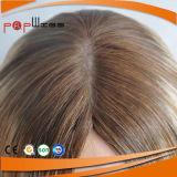 Красивейший парик продавая парик белокурой кожи Humen Silk верхний еврейский