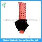 Dame-/Mädchen-nette rosafarbene Farben falten MiniRain/Sunumbrella