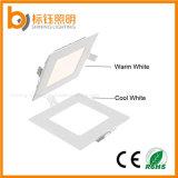 quadratische Aluminiuminnenenergiesparende LED Instrumententafel-Leuchte der 12W deckenleuchte-