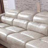 Sofá superior do couro de grão (897#)