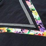T-shirt fait sur commande d'impression en vrac V du collet rond des hommes en gros