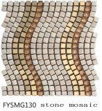 De marmeren Tegel van de Steen, de Ceramische Tegel van het mozaïek, de Tegel van de Vloer van het Mozaïek van het Roestvrij staal van het Kristal (FYSMG130)