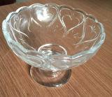 Belle vaisselle des prix de cuvette en verre de crême glacée bonne